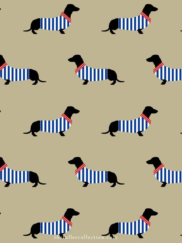 Dapper Dachshund / Placemats / The Fuller Collection
