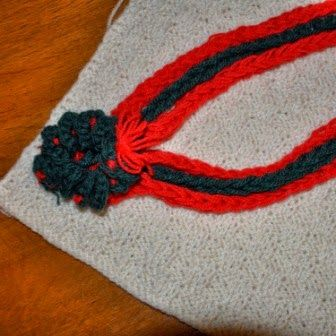 Beginner Knitting: A new article for Arm Knitting Braid Christmas Necklace and Finger Knitting Cord Christmas Necklace