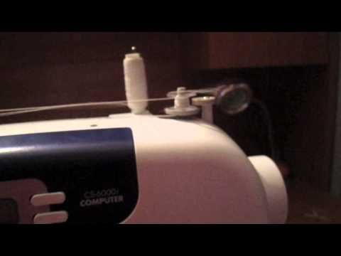 good video quality showing how to thread brother cs6000i, my new sewing machine!
