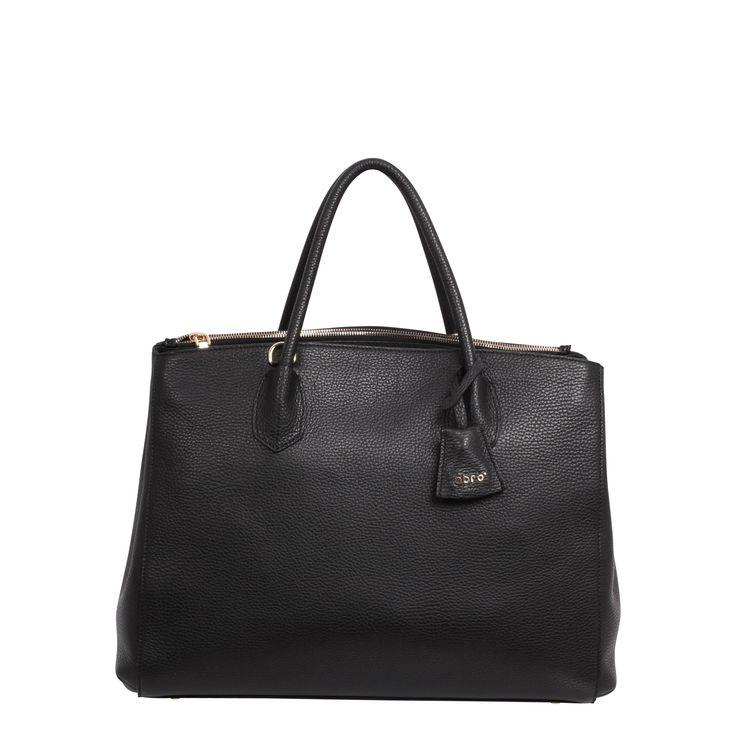 abro Handbag black/gold/leather