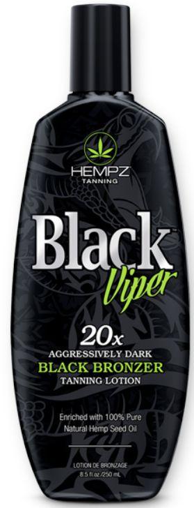Hempz Tanning Black Viper 20X Aggressively Dark Black Bronzer Tanning Lotion