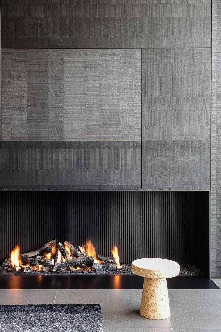 Oltre 25 fantastiche idee su parete con camino su for Camino a legna moderno