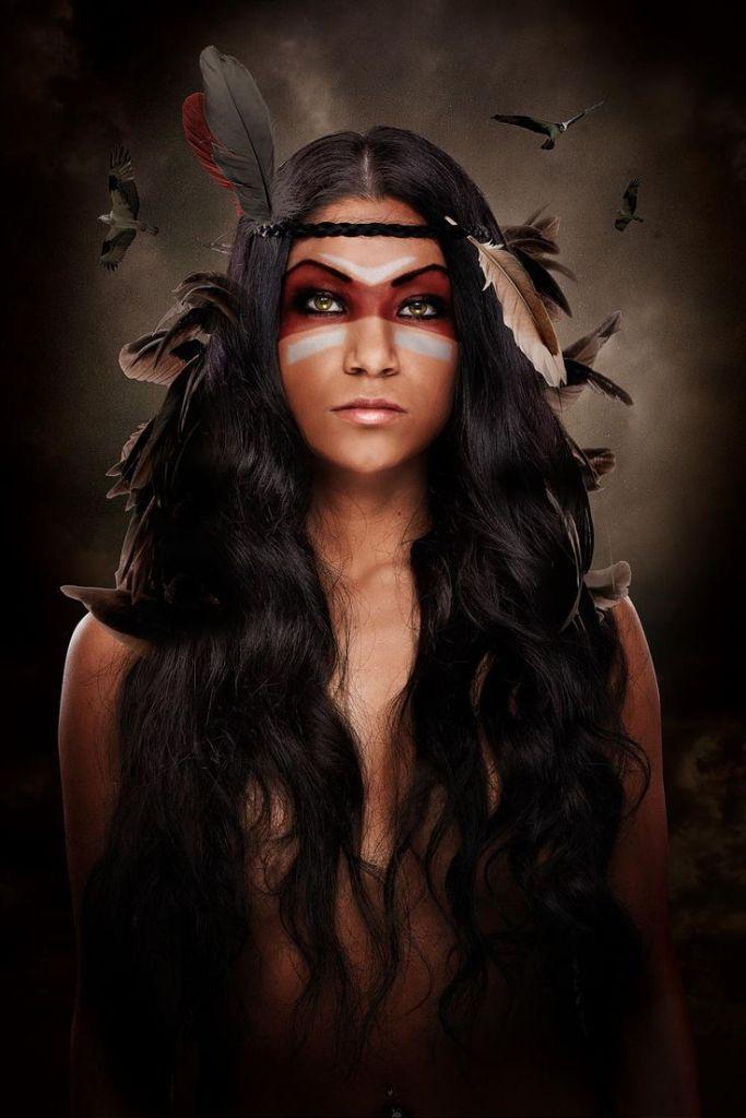 indian halloween makeup