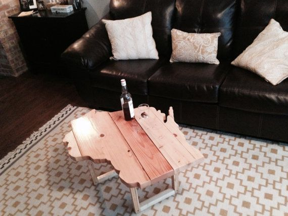 Handmade State of Wisconsin Table by BarnetteWoodshop on Etsy, $300.00