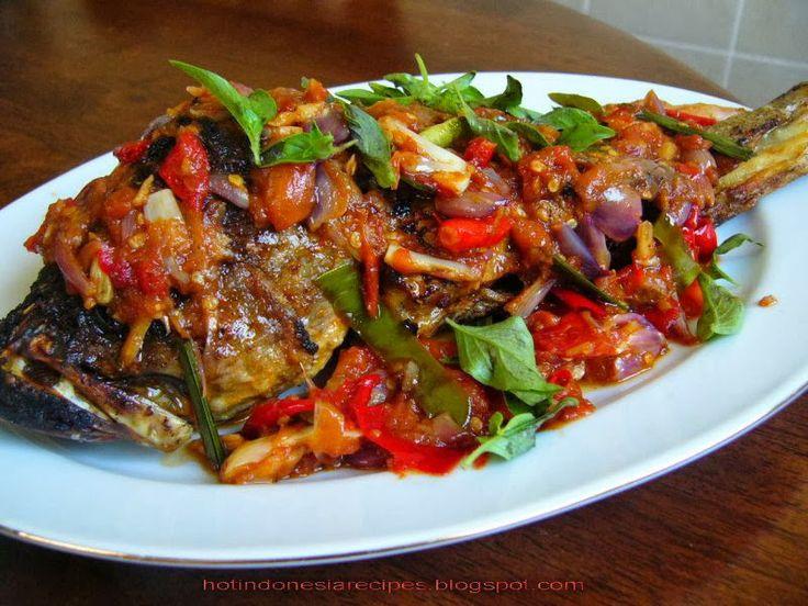 Hot Indonesia Recipes - Ikan Mas Bakar Rica