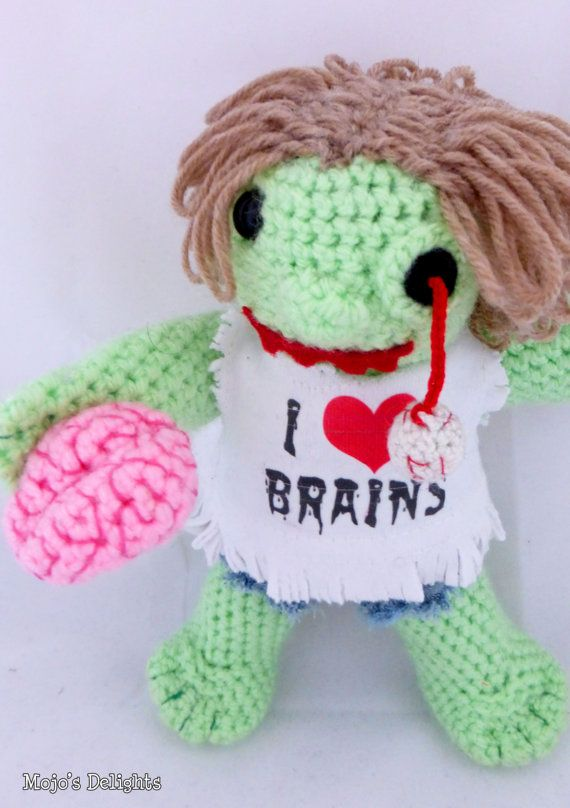 Crochet Zombie Doll by MojosDelights on Etsy