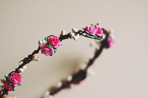rustic love hair wreath // lili // woodland by kisforkani on Etsy, $35.00