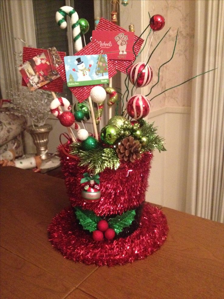 Gift card bouquet for christmas gifts