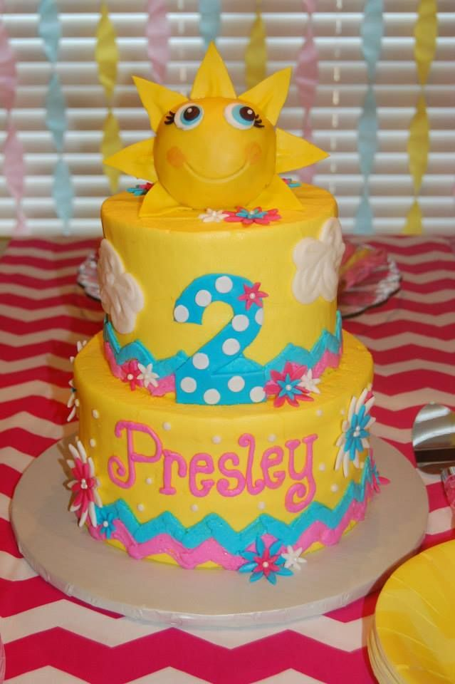 "Presley's ""You are my sunshine"" cake"