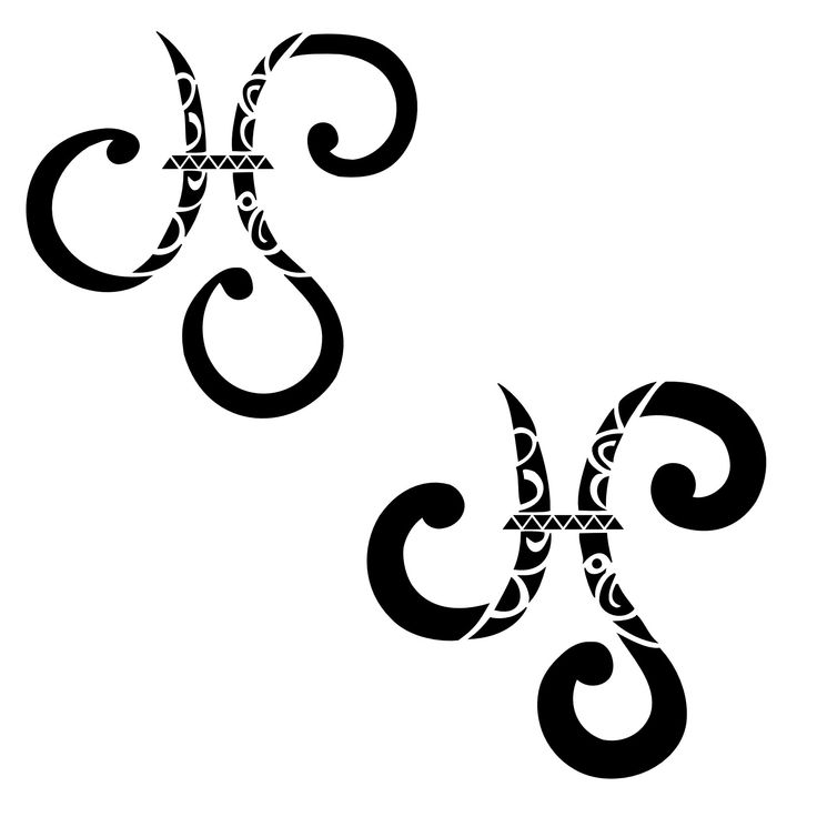 Cool Pisces Tattoo Design ~ I think I want this by my left shoulder blade