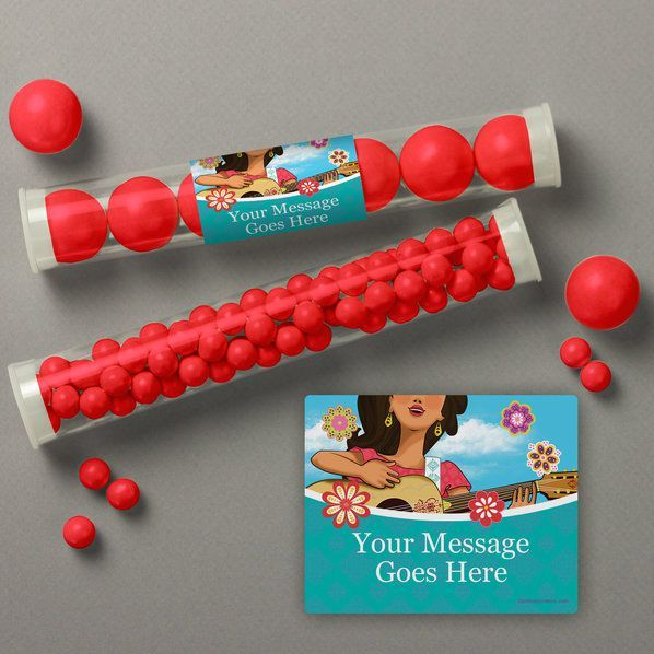 Princesa Personalized Candy Tubes from Birthday in a Box is the perfect touch to your Princesa party