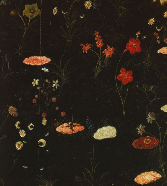 Sandro Botticelli, Primavera, (detail of the flowers in the meadow)