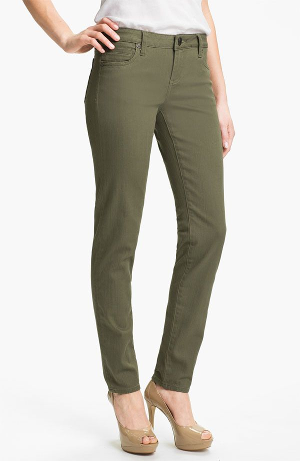 Kut from the Kloth Diana Skinny Jean Pacific Olive - not my favorite color, but it could work as an outfit with the right top.