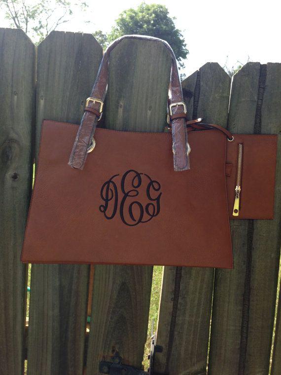 Monogrammed Leather Purse / Handbag by SimplyAdorableGifts on Etsy, $45.00