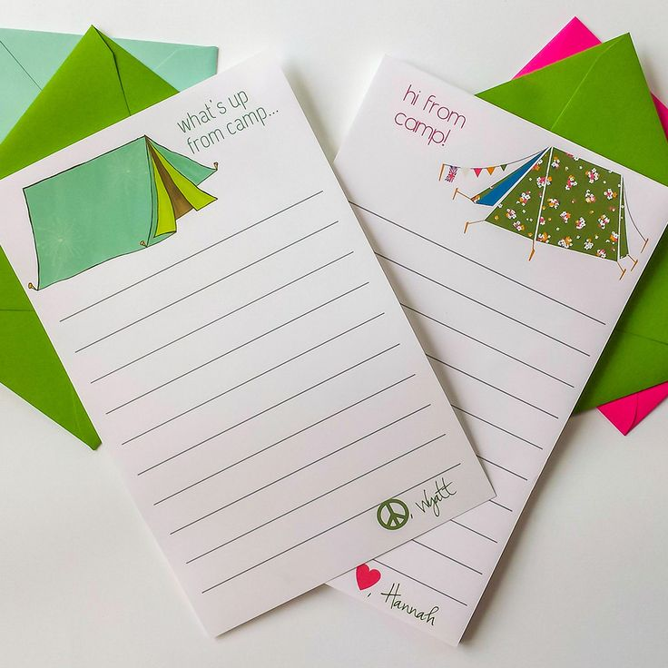 New to hedoepaper on Etsy: Personalized Camp Stationery Personalized Notepad & Envelopes Camp Stationary Boy Stationery Girl Stationery Camp Notepads Kids Stationery (20.00 USD)