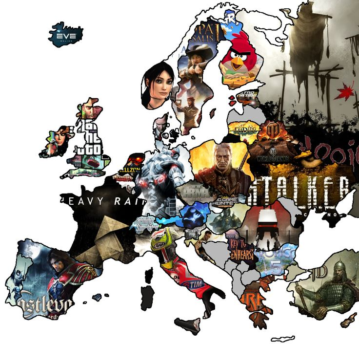 Various video games made by European game developers. [[MORE]]• Austria - Ori and the Blind Forest (2015) - Moon Studios • Belarus - World of Tanks (2010) - Wargaming • Belgium - Divinity: Original Sin (2014) - Larian Studios • Bulgaria - Tropico 5...