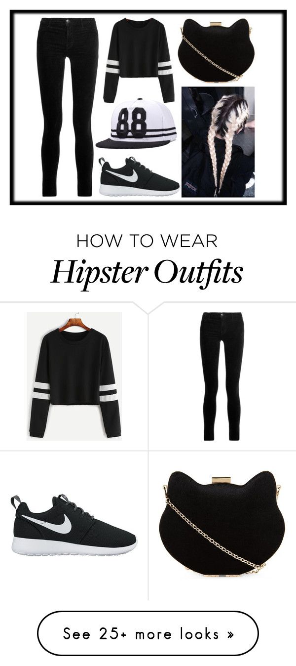 """White & Black"" by shipashipa on Polyvore featuring J Brand, New Look and NIKE"
