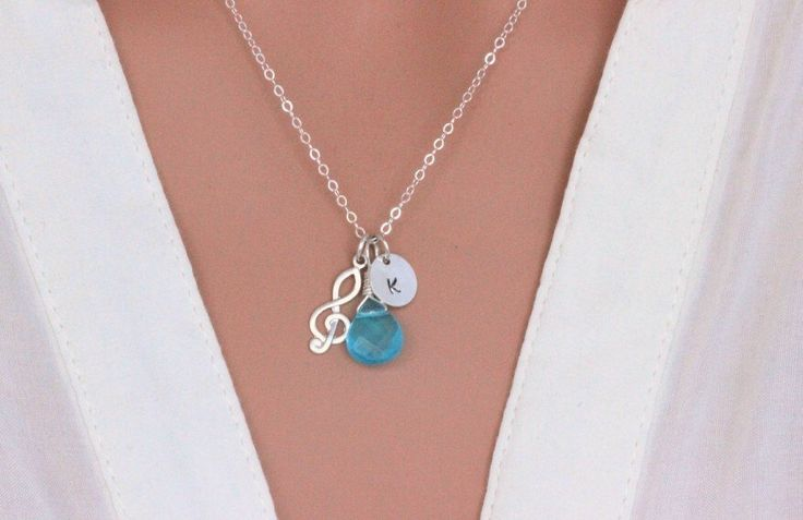 Music note necklace - Treble clef necklace - Personalized music necklace. Music Necklace, Music Jewelry, Musician gift , Personalized music by rainbowearring on Etsy https://www.etsy.com/listing/223269803/music-note-necklace-treble-clef-necklace