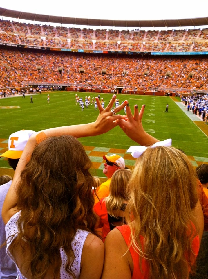 UT students show their sorority spirit during a Vols football game