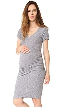 New MONROW Maternity Shirred Tee Dress online. Perfect on the HATCH Clothing from top store. Sku omco68958fkse71157