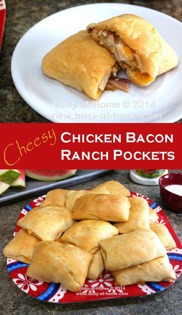 A Five-Ingredient, Fast and Easy Lunch Recipe - Chicken Bacon Ranch Pockets