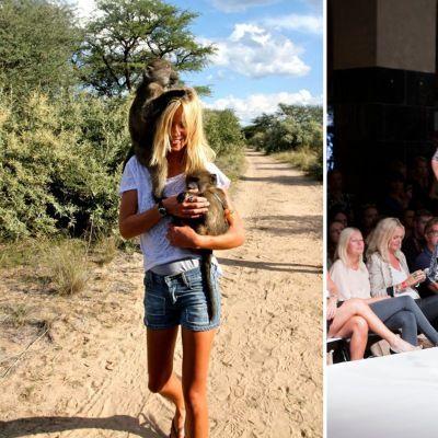 Mote og veldedighet går hånd i hånd på åpningen av Oslo Fashion Week. Les om Aleksandras spennende Namibia-prosjekt her.