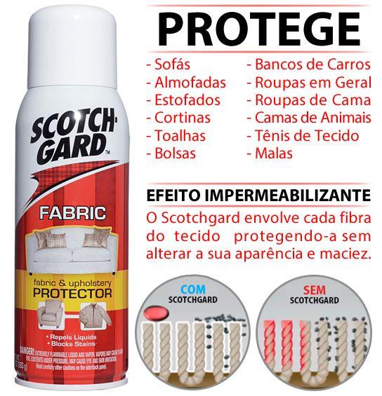 Spray Impermeabilizante Scotchgard 3m Protege Sofá E Cadeira - R$ 36,50 em Mercado Livre