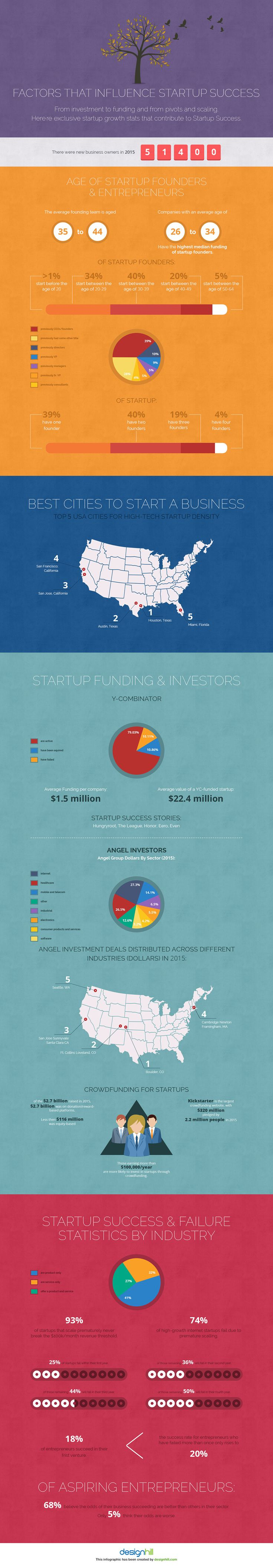 Infographic on Factors that Influence Success for Startups