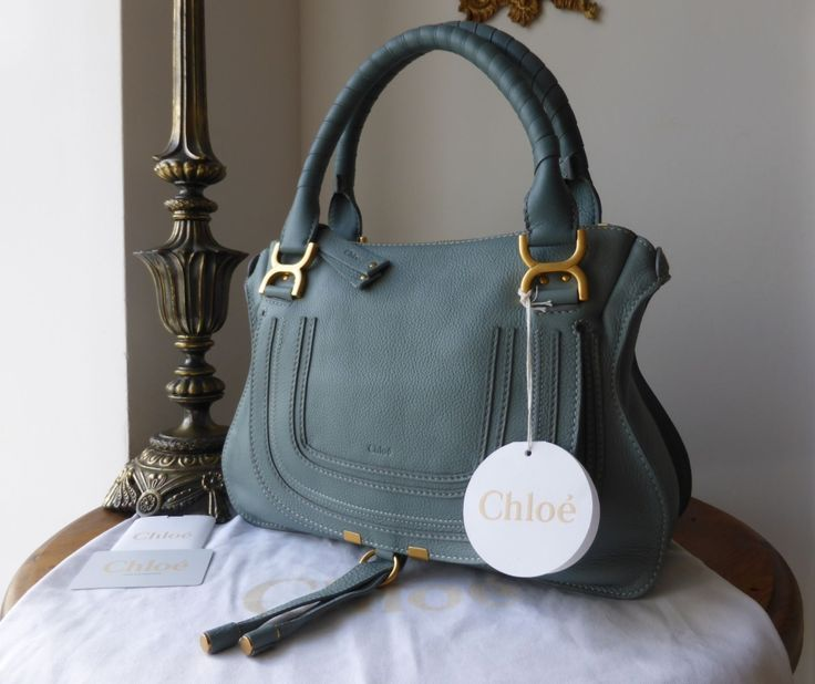 Chloe Marcie Medium Shoulder Satchel in Rainy Blue Calfskin  > https://www.npnbags.co.uk/naughtipidginsnestshop/prod_5335805-Chloe-Marcie-Medium-Shoulder-Satchel-in-Rainy-Blue-Calfskin-New.html