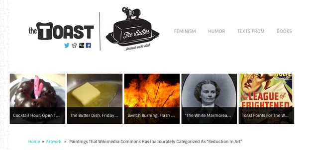 The Toast is the where funny smart women write things for other funny and smart women. | 32 Amazingly Useful Websites Every Woman Needs To Bookmark