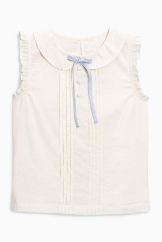 Buy Cream Tie Blouse (3-16yrs) online today at Next: United States of America