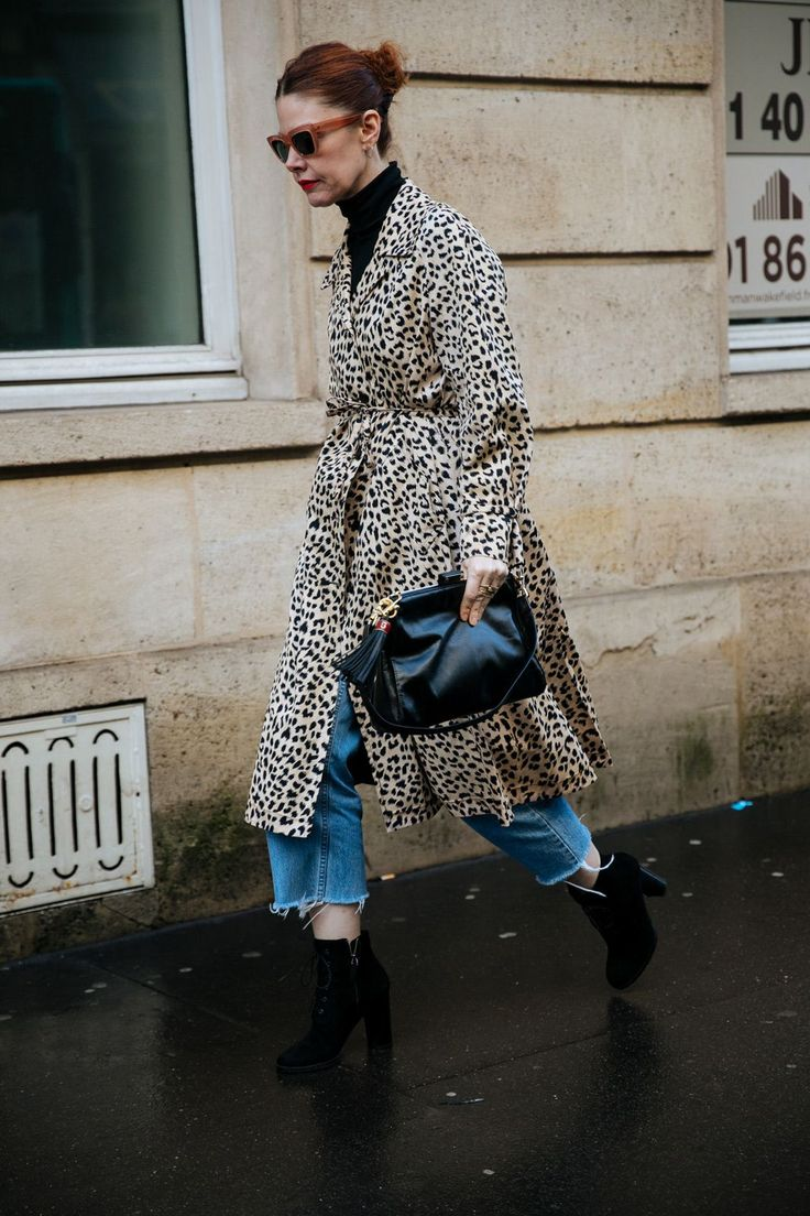 Animal prin coat over jeans | For more style inspiration visit 40plusstyle.com