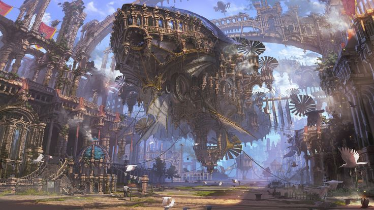 General 3840x2160 Ship Ruin Airships Steampunk Futuristic City 3840x2160 Airships City Futuristic Gener Steampunk City Fantasy Landscape Fantasy Artwork