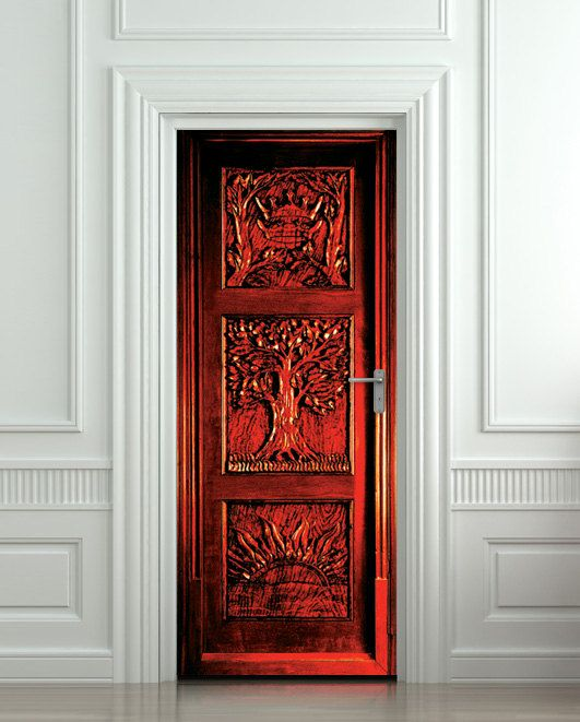 Door STICKER Narnia wardrobe fantasy antique mural by Wallnit, $54.99