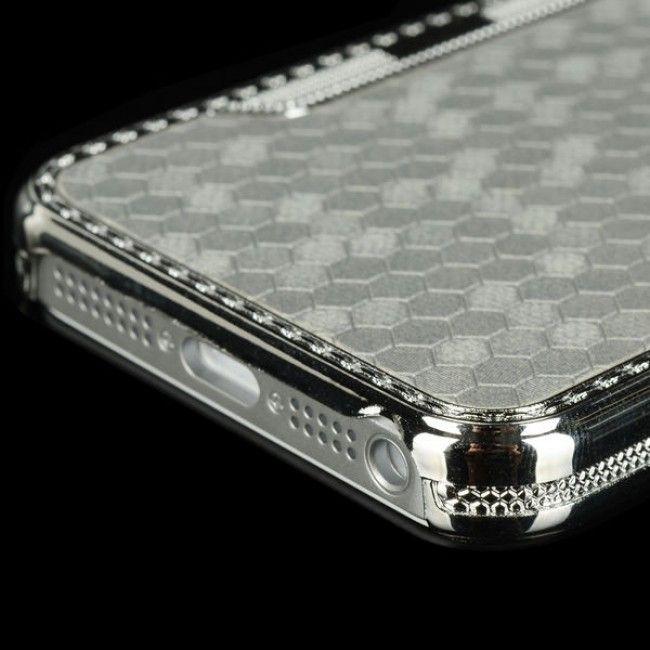 Chrome Grib (Hopea) iPhone 5S Suojakuori - http://lux-case.fi/chrome-grib-hopea-iphone-5-suojakuori.html