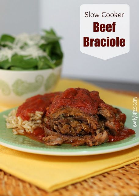 Emily Bites - Weight Watchers Friendly Recipes: Slow Cooker Beef Braciole