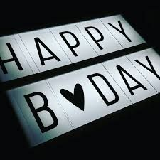 Light Box Birthday