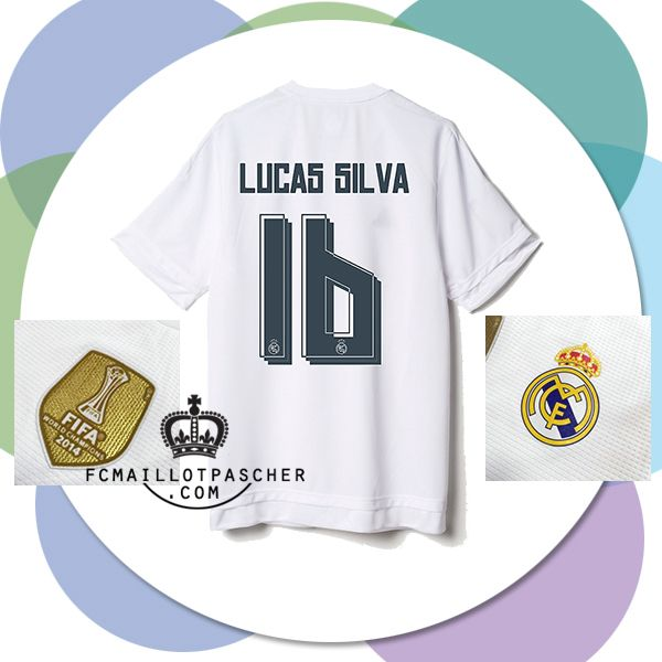 Nouveau maillot du real de madrid 2016 Domicile LUCAS SILVA foot boutique
