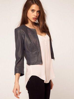 Женские кожаные куртки на осень 2017 и фото стильных моделей курток из кожи
