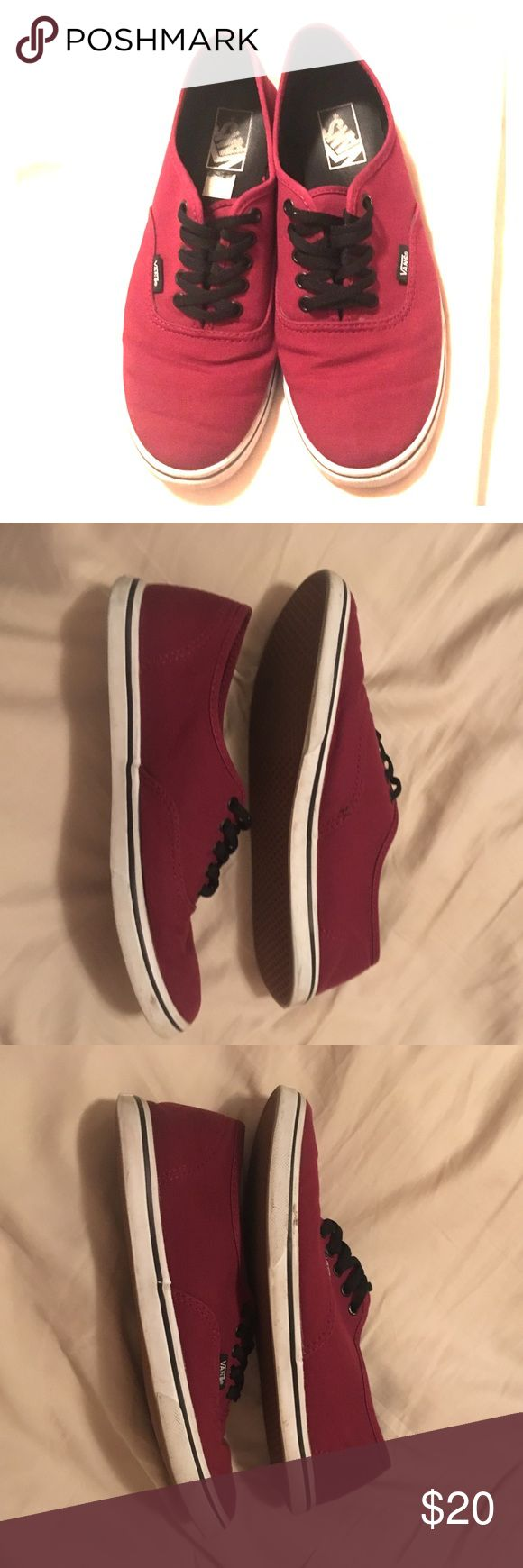 Maroon vans size 7.5 men's 9.0 women's These are maroon vans in size 7.5 men's and 9.0 in women's these are lightly used I loved the color but just didn't wear them. Vans Shoes Sneakers