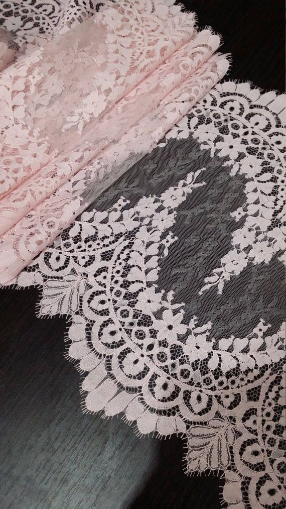Pink color lace trimming.  Both sides scalloped. Width: 36 cm/14.2 inches Item number: L22822_6  Price is set for one meter/yard.  You will receive the fabric in one continuous piece if you purchase more than 1 meter/yard.  IMPORTANT! Maximum one piece length of this lace trimming is 3 meters/yards. If you buy more than 3 meters/yards of this lace trimming you will receive it in several pieces.  If you need a different amount, please contact us.  We offer special disc...