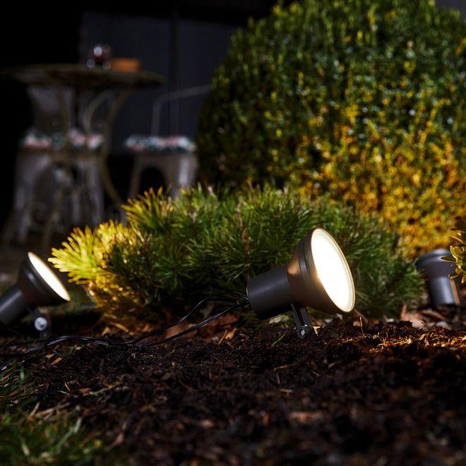 OSRAM ENDURA GARDEN SPOT LED Gartenlichterkette Dunkelgrau
