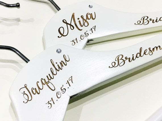 These personalised Wedding Hangers add the perfect touch of class on your special day. Each hanger will be engraved with the names of the wedding party and their role in the wedding. Be sure to buy one for the bride, groom, usher, maid of honour, bridesmaid,mother of the groom or bride, flower girl etc. These hangers are sold individually so be sure to increase the quantity to match the number you need upon checkout please pop the details you require in the notes to seller section Every…