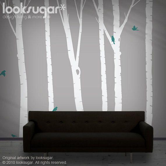Birch Tree Decal  Birch Tree Sticker  Nature Wall by looksugar, $118.00