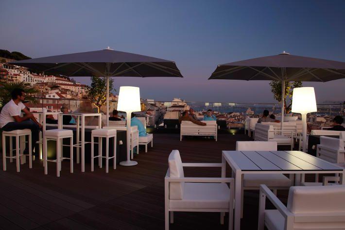 Dachterrasse des 4-Sterne Hotels Mundial in Lissabon