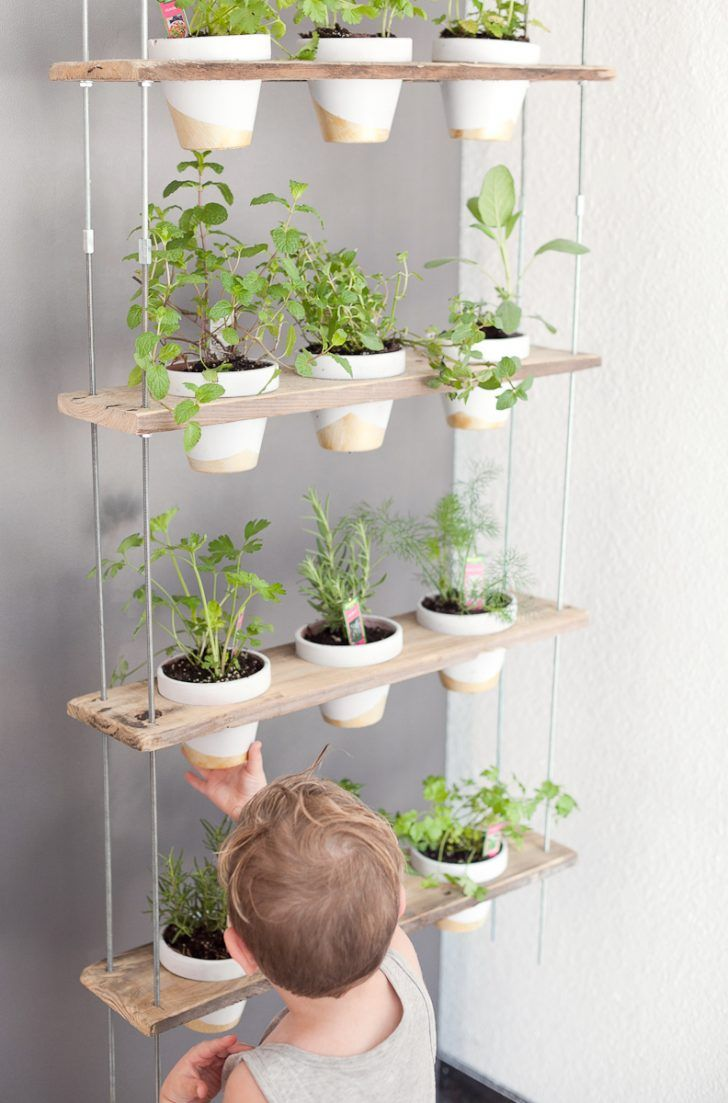 Chia pet herb garden - Diy Indoor Vertical Hanging Herbs Garden For Apartments Clever Diy Vertical Gardening Ideas For Your Small