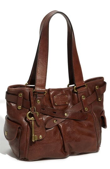a girl can never go wrong with a great brown leather handbag!