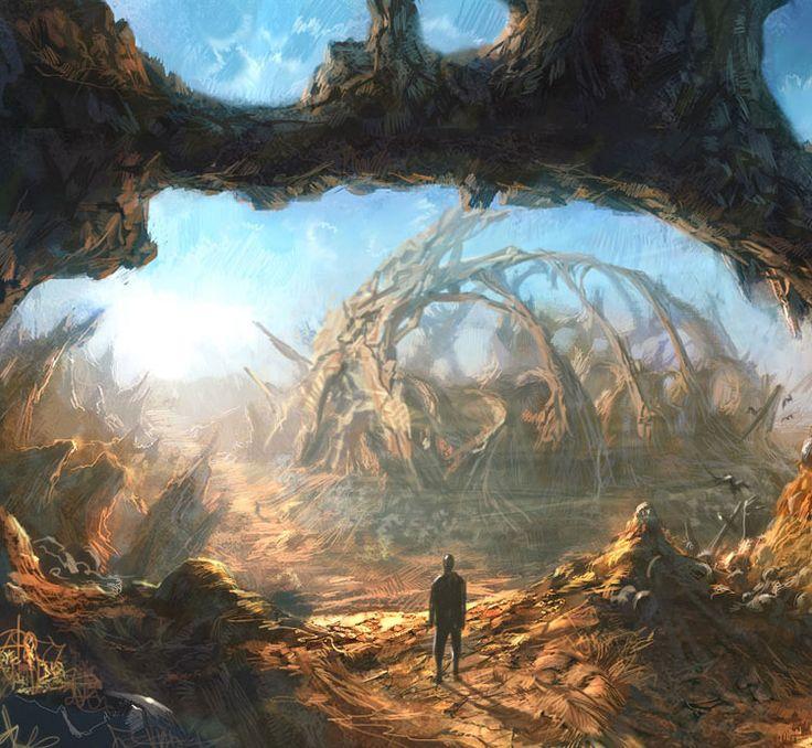 Beautiful Tera Environment Concept Art