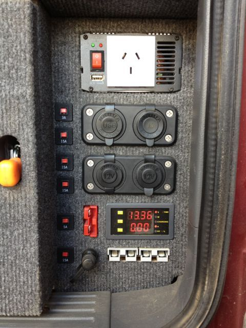 example auxiliary power panel for drawer system in back of