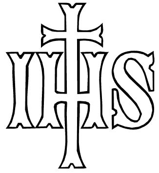 IHS AND CHI-RHO The letters IHS often appear on liturgical